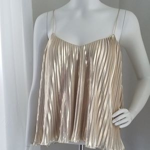 NWOT Abercrombie & Fitch Gold Metallic Tank Top S